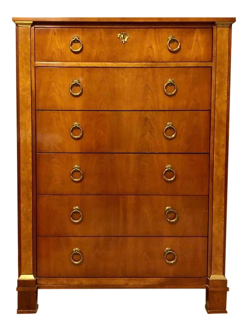 Vintage Neoclassical Empire Style Dresser by Baker Furniture