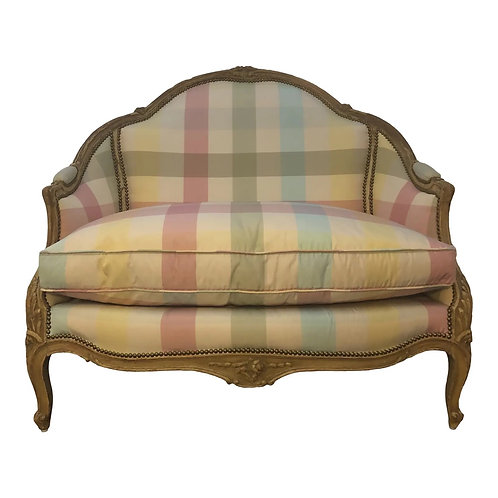 Early 20th Century Antique Louis XV Style Settee Loveseat