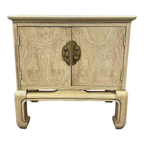 Late 20th Century Chinoiserie Ming Style Nightstand Side Table