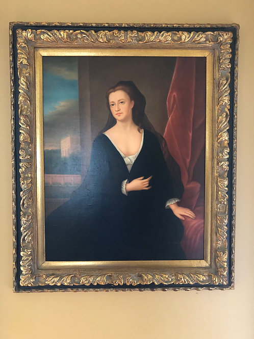 Late 20th Century Portrait Framed Print Oil Painting