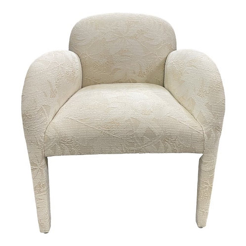 Vintage 1980s Upholstered Accent Chair