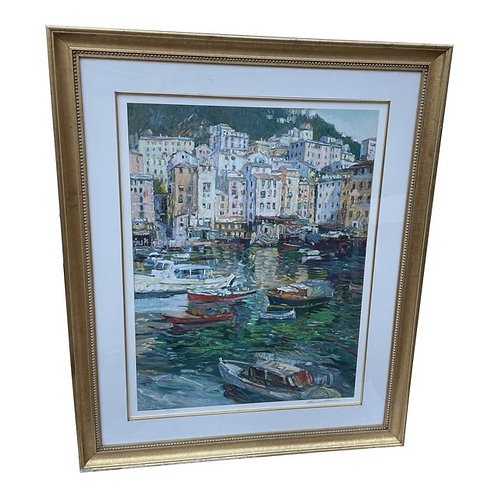 Late 20th Century Framed Serigraph Signed by Henri Plisson