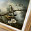 Thumbnail: Late 20th Century Framed Chinoiserie Bird Oil Painting Print