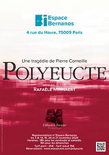 Affiche Polyeucte Corneille pièce théâtre Ronan Vernon comédien