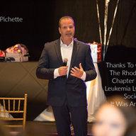 vic pichette speaking at the leukemia, l