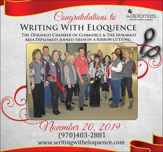 Durango Chamber of Commerce Welcomes Writing with Eloquence