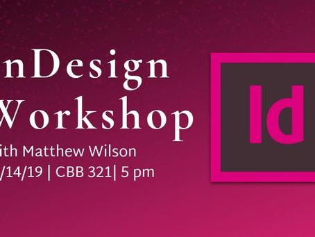 InDesign Workshop: 2/14/19