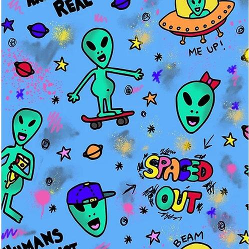 Space Alien Twirly Dress