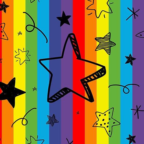 Rainbow Star Bummie Romper