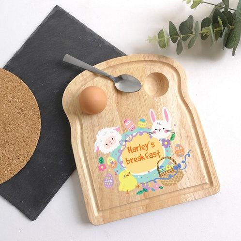 Easter breakfast Egg holder plate