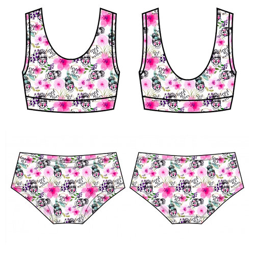 Bralette and pant set
