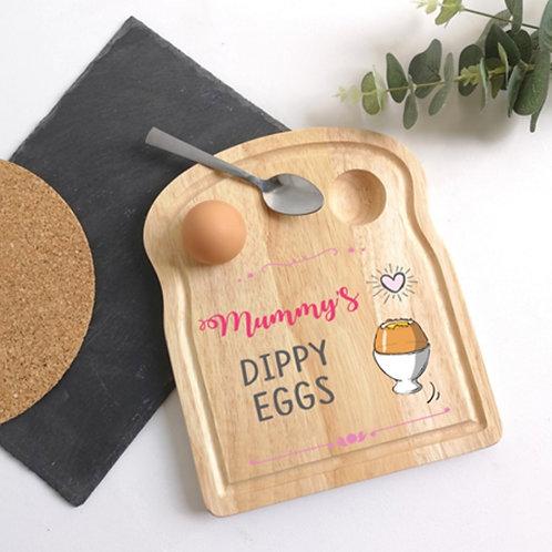 Dippy eggs, Egg holder plate