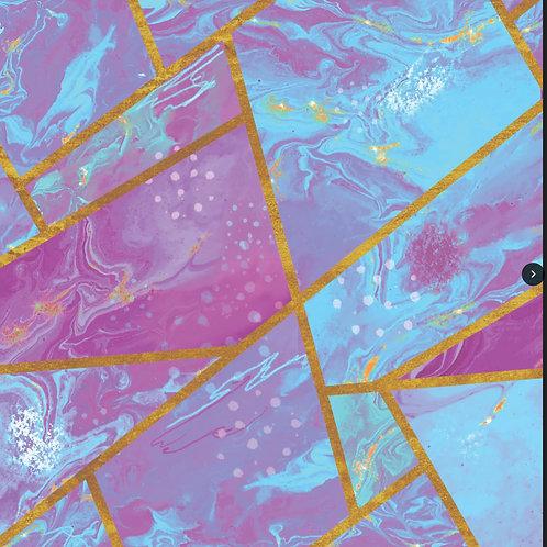 Pink GeoPopper Romper
