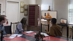 佛光山丹佛講堂法師為兩位丹佛大學宗教學學生 講述當地佛教寺院本土化等活動