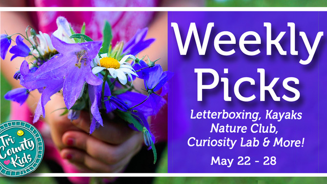 This Week: Curiosity Lab, Outdoor Treasure Hunt, Family Nature Club & More, May 22 - 28 , 2017