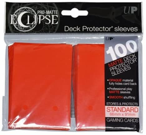PRO-Matte Eclipse Apple Red Standard Card Sleeves