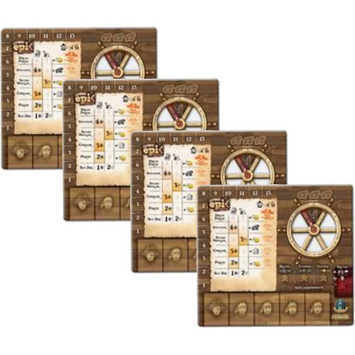 Tiny Epic Pirates: Player Mat Sets - Pack of 4