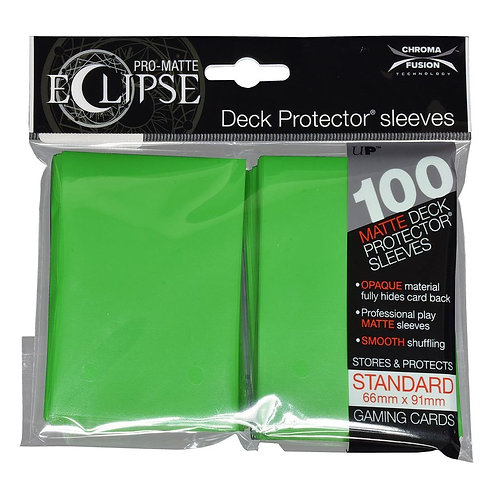 PRO-Matte Eclipse Lime Green Standard Card Sleeves