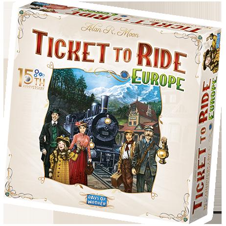 Ticket to Ride Europe 15th Anniversary ediiton