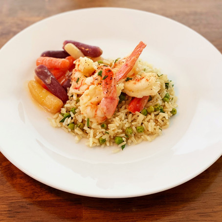 Butter Poached Shrimp for your date night or weeknight.  Easy and delicious!