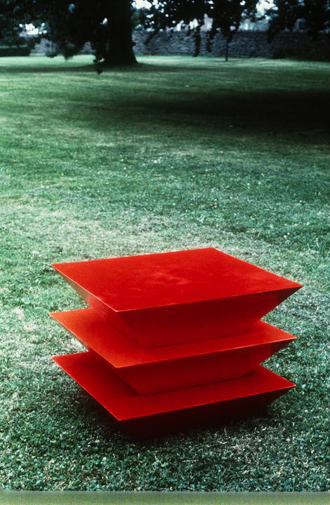 THREE TRUNCATED PYRAMIDS - RED