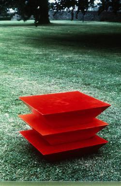 THREE TRUNCATED PYRAMIDS - RED