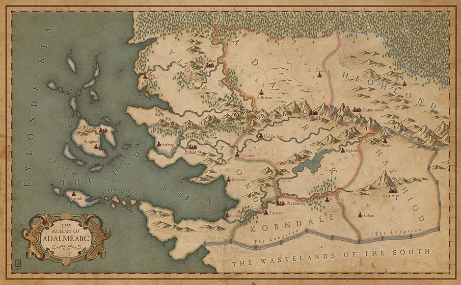 Map of the Seven Realms of Adalmearc