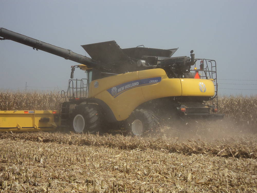 Corn is harvested during the 2015 Farm Progress Show near Decatur / CIFN file photo.