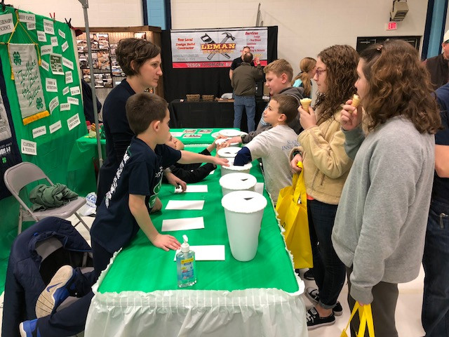 Visitors enjoy the Forrest Fireflies booth at the recent PC FFA Farm and Home Show / CIFN photo.