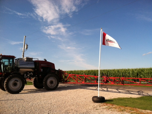 Equipment is displayed at Jenner Precision near Fairbury last Thursday / CIFN photo.