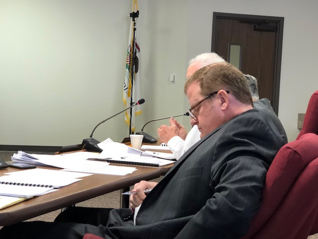 A view of the McLean County Board at Tuesday's meeting in Bloomington.