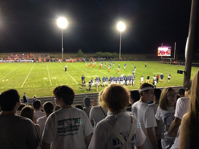 The view from the Prairie Central student section Friday night / EOCI photo by Rebecca Casson.