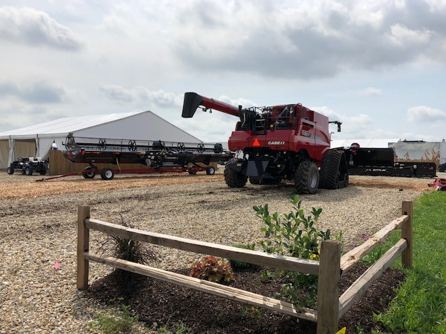 An exhibit being set up at the Farm Progress Show grounds this week / CIFN photo.