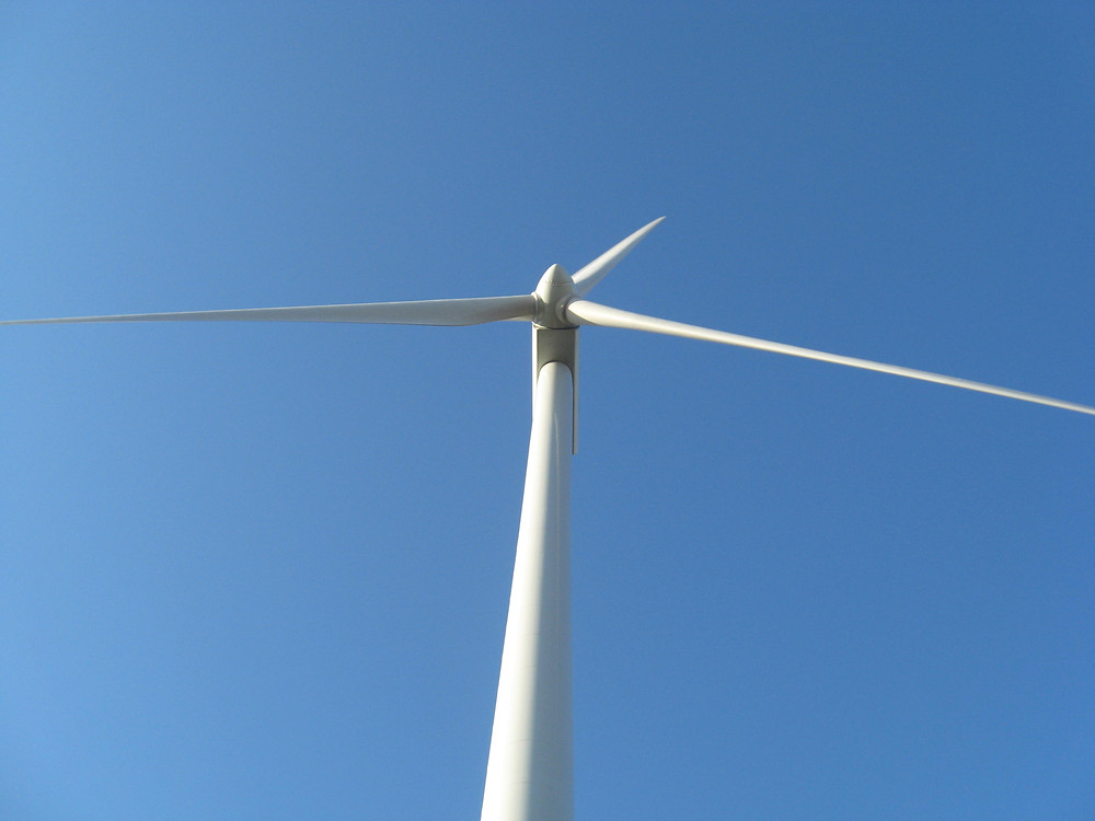 A turbine is shown in northern Livingston County / EOCI file photo.