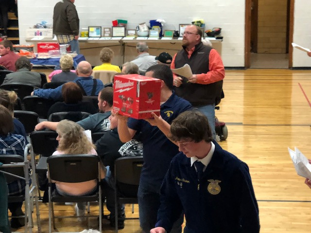 Saturday's Flanagan-Cornell FFA auction is shown / CIFN photo.