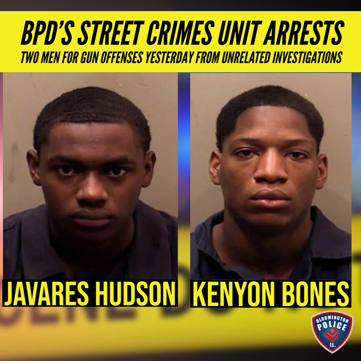 Two arrested for gun offenses