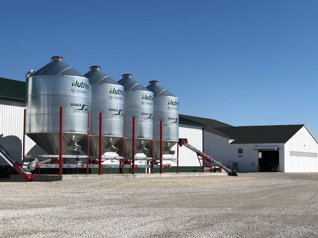 The Nutrien Ag Solutions plant is shown west of Fairbury on Friday morning / CIFN photo.