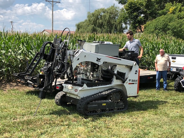 The AgNext soil sampler is demonstrated at GMS Labs of Cropsey / CIFN photo.