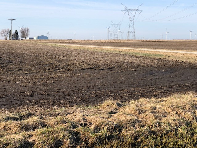 A muddy field is shown near Dwight in Livingston County this week / CIFN photo.
