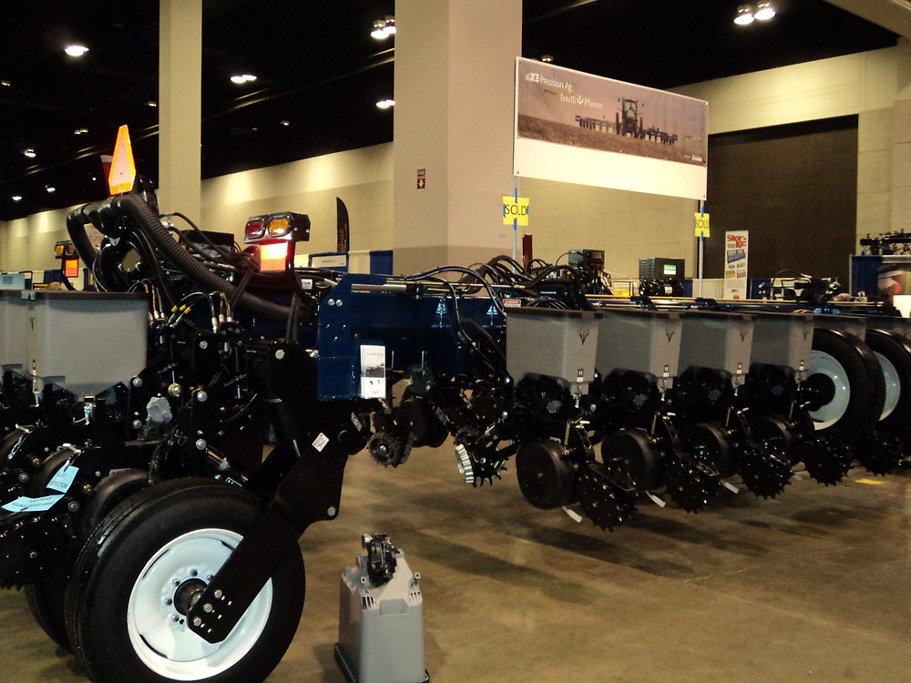 An IntelliPlanter is displayed at the recent Greater Peoria Farm Show / CIFN photo.