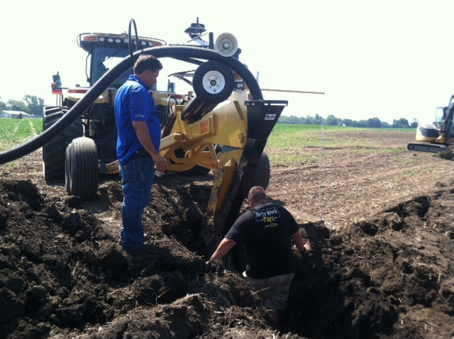 Tile plow demos were offered by Nu-Ag Technology in Chatsworth last month / CIFN photo.