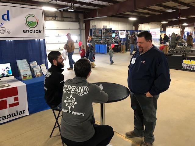 The Schmid Ag Technology booth at a previous Gordyville farm show / CIFN photo.