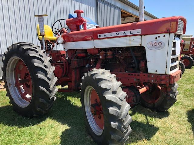 Everett Hauert's tractor is displayed Saturday at Historic Farm Days / CIFN photo.