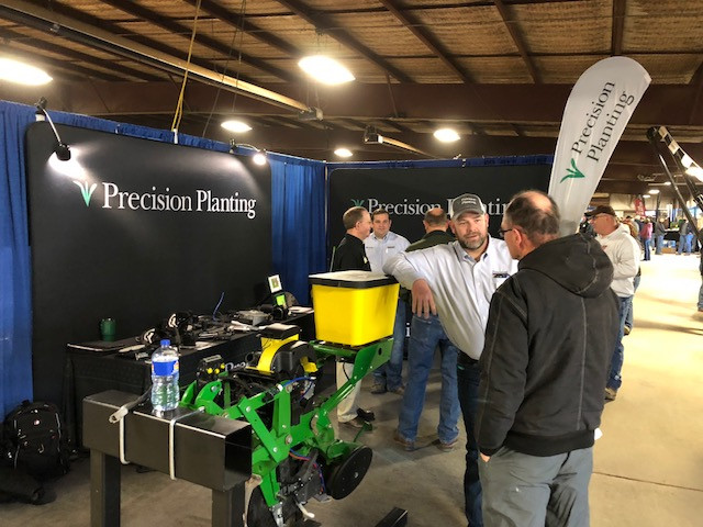 Dean Atkins is seen at the recent Midwest Ag Expo at Gifford / CIFN photo.