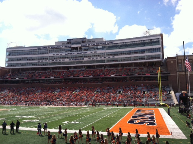 A U of I game is shown during a previous season at Memorial Stadium / CIFN file photo.