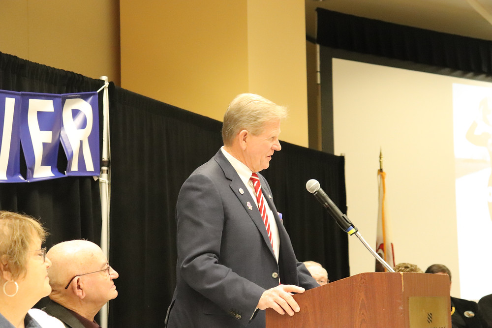 State Rep. Miller at the IAAF Convention in Springfield / CIFN photo.