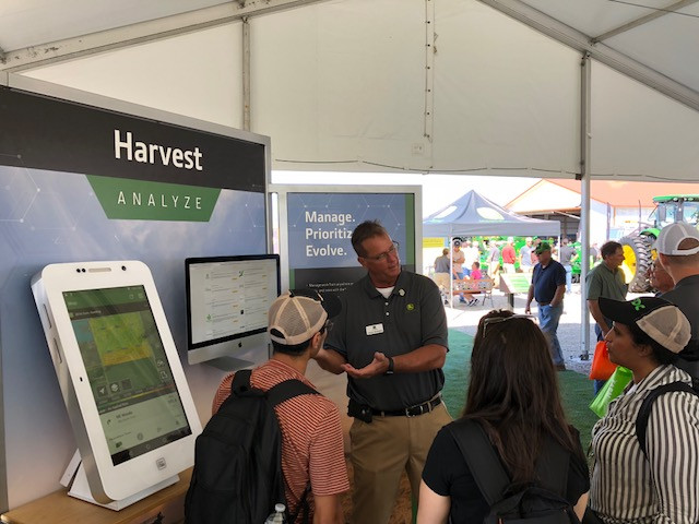 John Deere technology displayed at this year's Farm Progress Show in Decatur / CIFN photo.