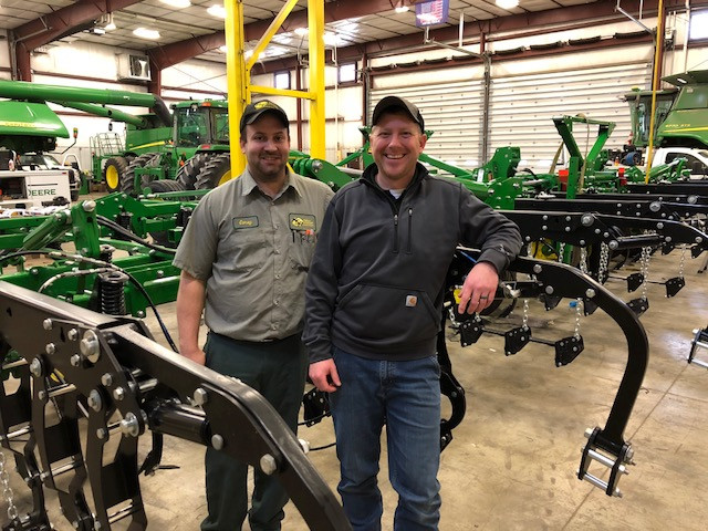 Corey Eggenberger (left) and Ryan Myers of KSR Equipment are shown in the KSR shop / CIFN photo.
