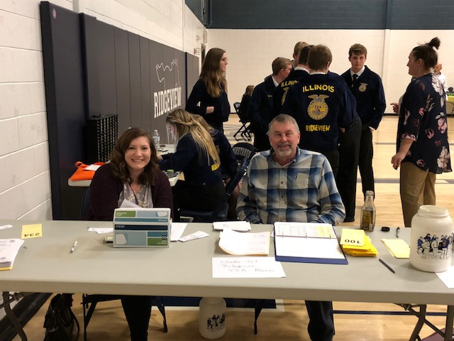 The check-in table at Ridgeview's FFA auction held last weekend in Colfax / CIFN photo.