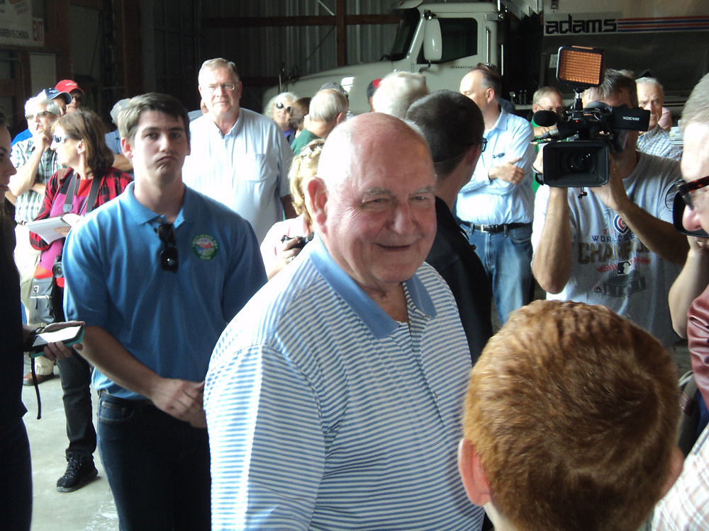 Ag Secretary Sonny Perdue visited the FS plant in Chenoa on Monday  / CIFN photo.
